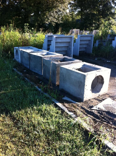 We stock several sizes of smaller residential precast concrete catch basins