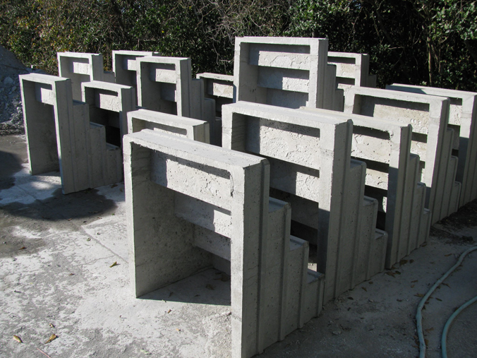 Precast concrete steps are maintenance free and seem to last forever